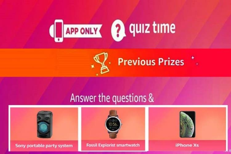 Amazon Quiz Answers Today 4th December 2020 Win Daily Prizes