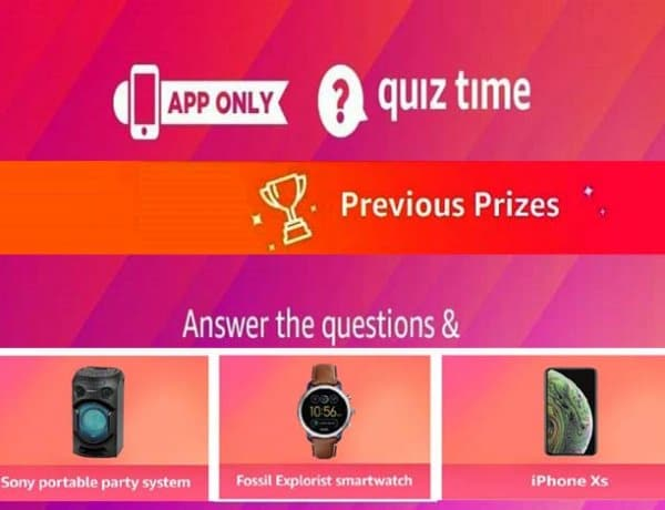 Amazon Quiz Answers For Today Correct Answares to Win Prizes