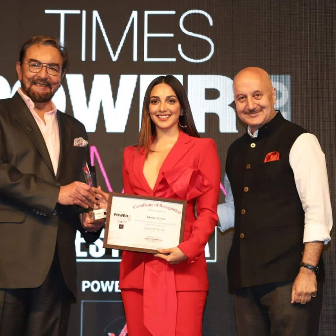 kiara advani award from times of india